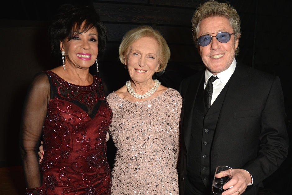 Dame Shirley Bassey, Mary Berry and Roger Daltrey