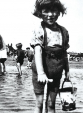 Barbara with her bucket and spade