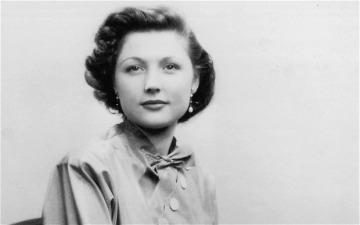 A young Barbara Taylor Bradford