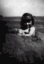 Barbara at the beach at the age of three