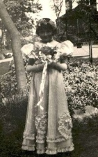 Barbara as a bridesmaid, age six