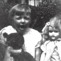 Barbara at the age of three