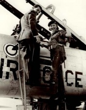 Barbara Taylor boards a Royal Air Force plane for an exhilarating newspaper feature
