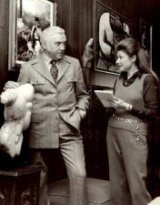 Barbara Taylor interviewing American TV icon Lorne Greene