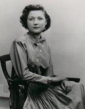 Barbara wearing a silver-gray taffeta dress at age 19