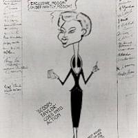 A cartoon of Barbara looking like a really chic fashion editor by cartoonist Arthur Day