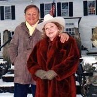 Bob Bradford & Barbara Taylor Bradford brave a Connecticut winter storm