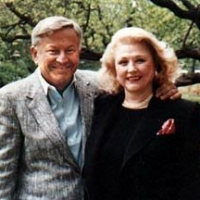 Bob Bradford & Barbara Taylor Bradford on a springtime visit to London