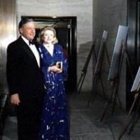 Bob Bradford & Barbara Taylor Bradford attending an art exhibition in New York City