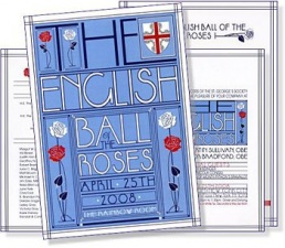 Program cover for the 2008 English Ball of the Roses