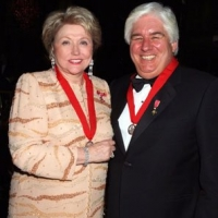 Barbara Taylor Bradford and AIG President/CEO Martin Sullivan, the guests of honour for the Ball of the Roses