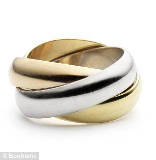 'Trinity' ring by Cartier, given to Barbara by Bob to celebrate the renewal of their wedding vows. Estimated worth: £1,000 to £1,500