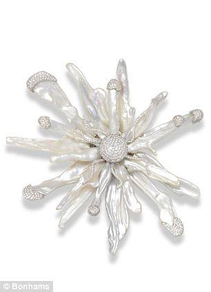 Keishi pearl and diamond brooch by Moussaieff. Estimated worth: £7,000 – £9,000