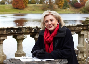Barbara about to start filming ITV's 'Secrets from the Workhouse' documentary (pic credit ITV)