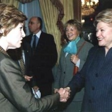 Greeting the First Ladies