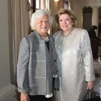 Barbara Taylor Bradford with the former First Lady Barbara Bush