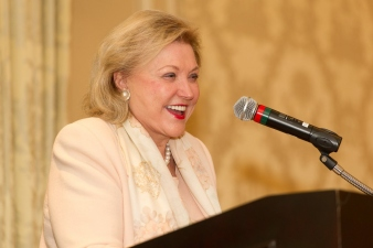Barbara Taylor Bradford at a recent speaking engagement in America