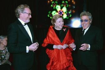 Alistair Morrison, Barbara Taylor Bradford and Roger Daltrey
