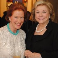 Barbara Taylor Bradford with Edwina Sandys, granddaughter of Winston Churchill
