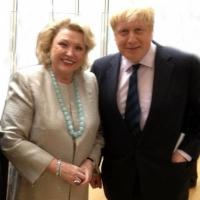 Barbara Taylor Bradford with London Mayor Boris Johnson