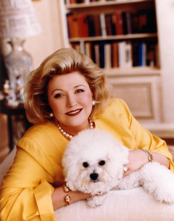 Devoted: Barbara with her Bichon Frise Beaji