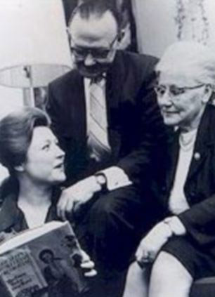 Barbara Taylor Bradford with her parents