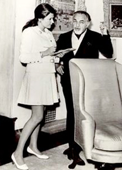 Barbara Taylor interviewing Hollywood legend Edward G Robinson