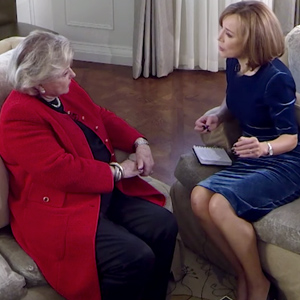Barbara Taylor Bradford interviewed by Sian Williams for Channel 5 News